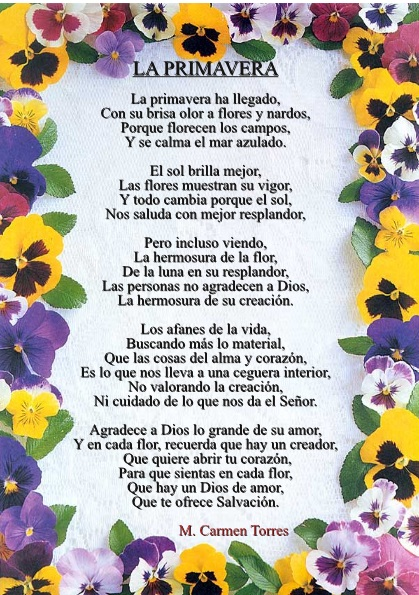 Poemas de primavera - Imagui